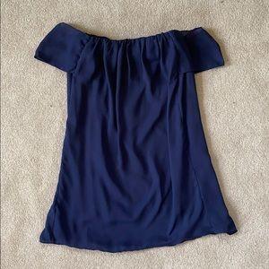 Navy blue Tobi off-the shoulder dress